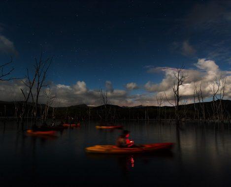 Lesprit kayak en pleine lune avec AVENTURE PULSION