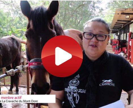 VIDEOS. ITW de Tania Ruruhau du club hippique de La Cravache Mont Dore