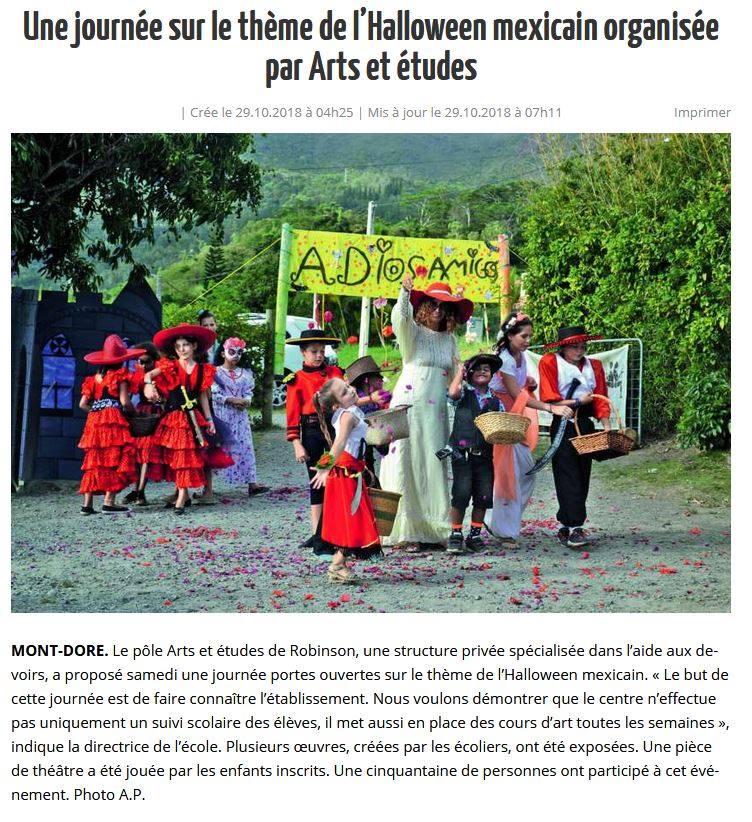 Halloween Arts et Etudes du Mont Dore